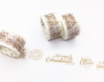 Golden Christmas Greetings Washi Tape