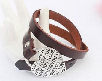 I Love You Wrap Bracelets