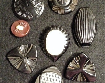 Large Vintage Coat Buttons (8)