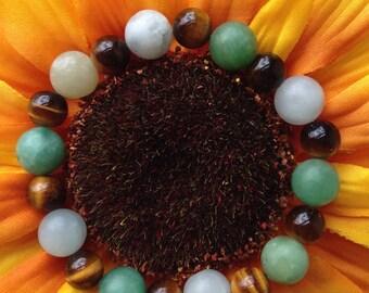 Tigers Eye & Amazonite Bracelet