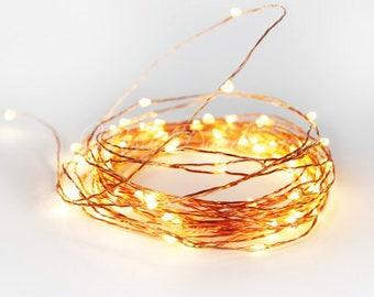 Copper Wire Fairy Lights,Wedding Lights,Decor Lights,Backdrop Lights,Home decors,5 & 10 meters,Warm White Bulbs,White Bulbs,USB Operated