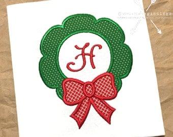 Wreath Applique Shirt / Christmas Wreath Shirt / Girls Wreath Shirt/ Christmas Shirt / Girls Christmas Shirt / Personalized Christmas Shirt