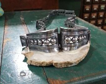 Margo De Taxco Mexican Silver, Sterling Belt, 1960's