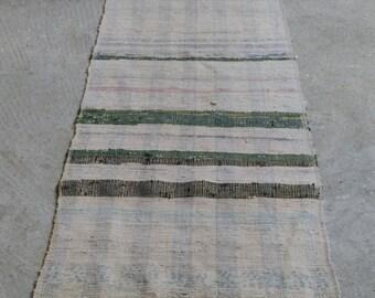 2'2''x11'6'' Turkish Striped Kilim, Vintage Kilim, Boho Runner