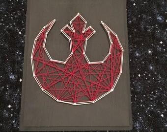 String Art Rebel Alliance Symbol