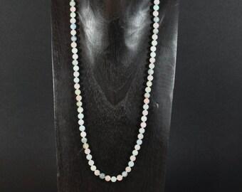 Morganite and aquamarine necklace