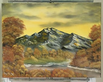 Mountain in Fall Land scape Oil Painting  for sale