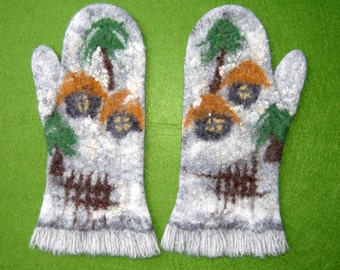 Felted wool winter mittens_119