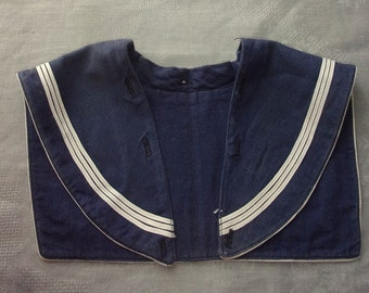 RESERVED T small .lovely former sailor collar for child