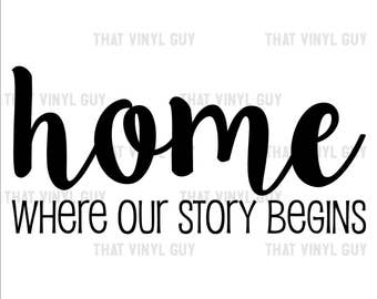 Home is Where Our Story Begins Wall Decal   Home Wall Decal
