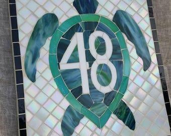 Custom Mosaic Turtle Street Address