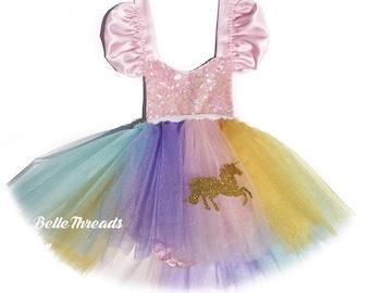 Unicorn Birthday Outfit, Unicorn Dress, Unicorn Romper, Unicorn Birthday Tutu, Unicorn Costume, Unicorn 1st Birthday, Unicorn Party Dress,