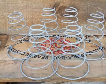 6 Vintage Tornado Style Metal Bed Springs ~ Repurposing ~ Craft Supply ~ Gray Metal Spring ~ Steampunk ~ Industrial Spring