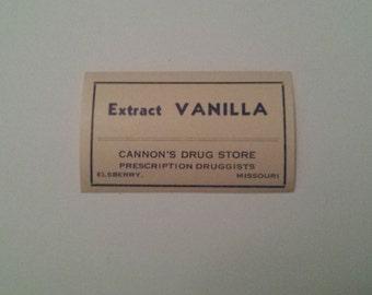 Pharmacy Label - Vanilla Extract Label, Extract Vanilla Labels, Vintage Pharmacy Label for Bottles, Old Drug Labels, Vanilla, Vintage Labels