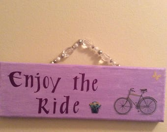 Enjoy the Ride Wall Decor (purple)