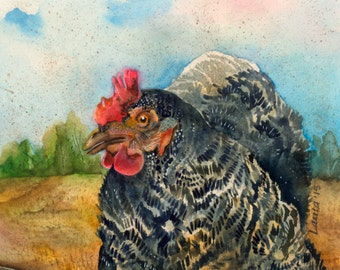 "Featherman ""Original Watercolor"""