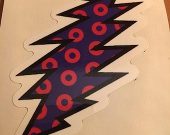 Fishman Donut Lightning Bolt Sticker - Phish - Grateful Dead