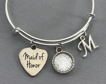 Maid of Honor Gift - Maid of Honor Proposal -  Diamond Wedding Jewelry - Wedding -Maid of Honor bracelet - Maid of Honor Jewelry