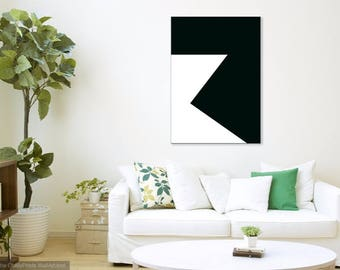 Black and white painting . Minimalist Art, Original  painting, Acrylic painting,Large abstract painting