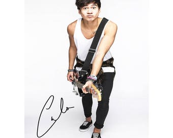 Calum Hood (5 Seconds of Summer) pre signed photo print poster - 12x8 inches (30cm x 20cm) - Superb quality - N.0 1
