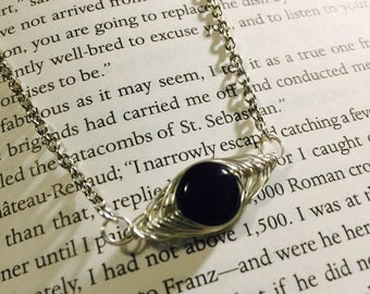 Black Tourmaline Herringbone Necklace