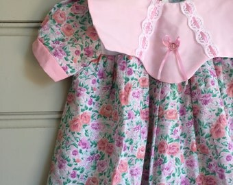 Baby Girl Vintage Style Floral Dress