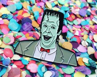 SECONDS - PeeWee Herman Munster Lapel Pin // Enamel Pin // PeeWee's Playhouse // The Munsters // Flair // Pins // Peewee // Halloween