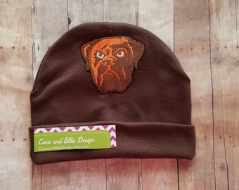 Baby Boy Cleveland browns hat-CLEVELAND Browns beanie/baby boy bulldog hat/browns hat for baby-cleveland browns toddler-browns baby gift