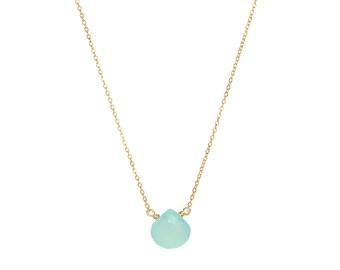 Chalcedony Seafoam (turquoise) Necklace
