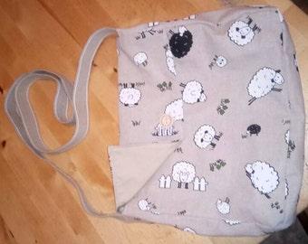 Adorable sheep messenger style bag