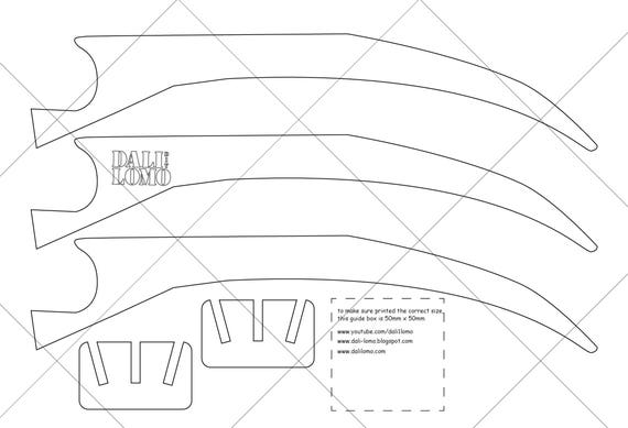 Wolverine Claws Pdf Template From Dalilomo On Etsy Studio