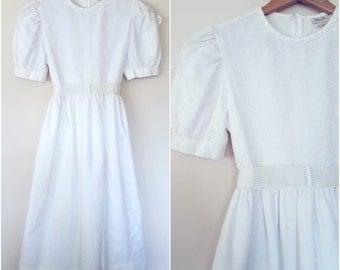 White Sundress, Flower Child, Meadow Dress