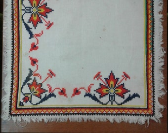 Napkin Hand Embroidered vintage