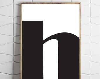 h letter decor, h modern art, h download, h printable, h poster, h decor, h prints, h art