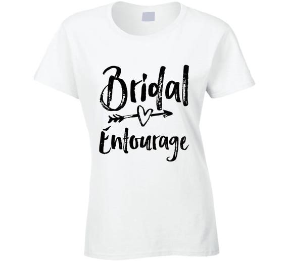 Bridal Entourage, Team Bride, Wedding Bachelorette Party T-shirt, Bridal Shower Shirts,bridal Entourage Tee,bridesmaid Shirt