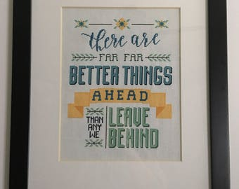 Better Things Cross Stitch Pattern