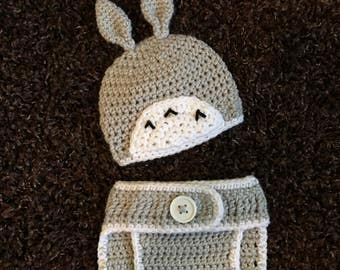 Totoro Newborn Outfit, Newborn Crochet Outfit, Newborn Photoshoot, Baby Crochet Outfit
