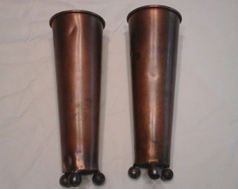 Vintage copper vases set