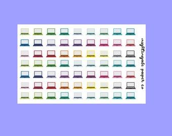 Multicolor Rainbow Laptop Planner Stickers
