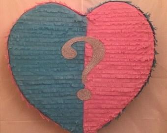 Gender Reveal Heart Pinata