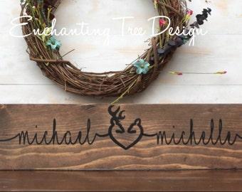 Deer Heart Marriage Sign