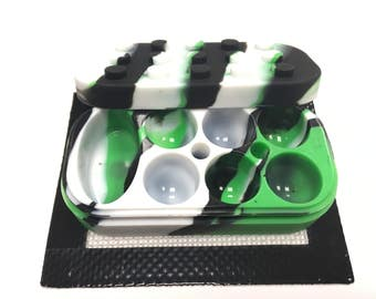 40ML 6+1 Silicone Nonstick Dab Container for hot liquids