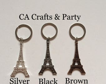Eiffle tower keychains favors 12PCS- Eiffle tower favors- Paris theme party favors- Tour la Paris party- Wedding favors- Mis 15 favors.