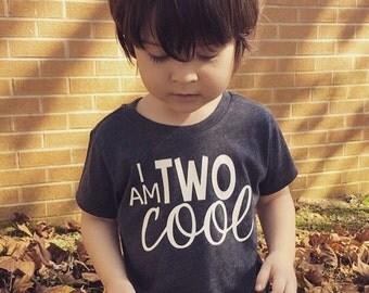 Boys 2nd Birthday Shirt - 2nd Birthday Shirt - Two Cool Shirt - 2nd Birthday Boy - Two Year Old Birthday - Two Year Old Birthday Shirt
