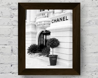 Lovely Chanel Print, Fashion Wall Art, Black And White Prints, Modern Poster,  Chanel