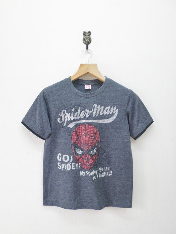 Vintage marvel comics superhero spiderman t shirt street wear for Retro superhero t shirts