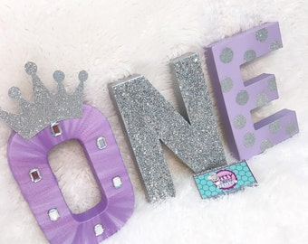 Princess Letters - Princess One Letter - First Birthday Letter - Princess Party Decoration - Princess Photography Prop - 1st Birthday