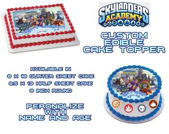 Skylander Academy  Edible Images Cake topper