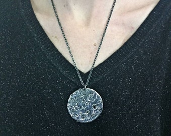 Moon pendant silvered