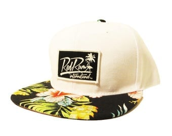 South Beach White Floral Snapback Hats